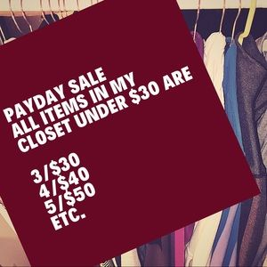 Tops - PAYDAY SALE NOW THRU SUNDAY 3/$30 4/$40 5/$50